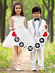 Ball Gown Floor-length Satin Flower Girl Dress / First Communion Dress (HSX441)