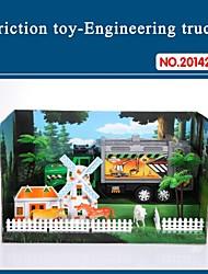 altíssima qualidade para carro de brinquedo caminhão crianças atrito conjunto com ferramentas do tema da fazenda 20142-10