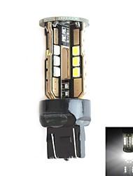 HJ 7443 10w 900lm 5500-6000k 30x2835 SMD LED Белый свет лампы для автомобилей стоп-сигнала (12-24В, 1 шт)