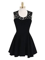 Women's Sexy Halterneck Ruffles Backless Dress