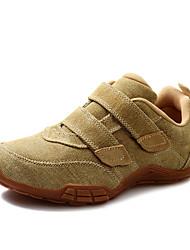 Zapatos de Hombre - Sneakers a la Moda - Casual - Tela - Negro / Beige