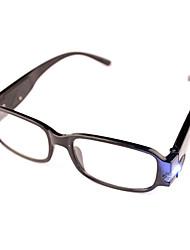 [Free Lenses] Lamp Plastic Rectangle Full-Rim Classic Reading Eyeglasses