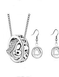 Fashion big earrings + necklace set (1 set)
