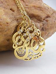 18k ouro banhado allah pingente muçulmanos