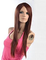 capless lange hochwertigen synthetischen staight fasional Haarperücke mit Seite bang