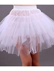 Anáguas Slip Linha-A Slip de Baile Comprimento Curto 3 Branco Preto