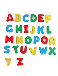 Colorful Wooden Letters And Numbers Both Magnetic Stickers Toys(Random Pattern)