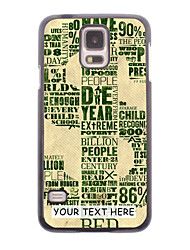 Personalized Phone Case - Dollar Design Metal Case for Samsung Galaxy S5 I9600
