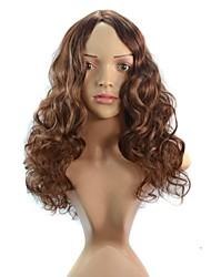 Deep Curly Hair Synthetic Wig None Bang