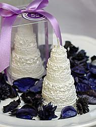casamento romântico de rendas bolo