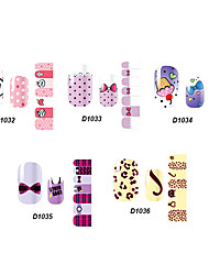 14pcs belle no.32-36 style cartoon Stricker nail art de la série D (modèle assortis)