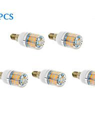 10W E14 LED Mais-Birnen T 46 SMD 2835 770 lm Warmes Weiß / Kühles Weiß AC 220-240 V 5 Stück
