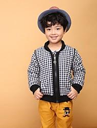 grade de moda primavera do garoto com jaqueta casaco com zíper