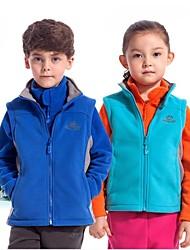Outdoors Kid's Winter Polyester Multi Colors Windproof Fleece Waistcoat