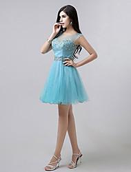 Homecoming A-line Scoop Knee-length Evening Dress