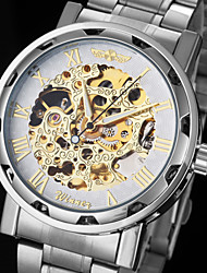 WINNER® Men's Watch Automatic self-winding Skeleton Watch Hollow Engraving Stainless Steel Band Wrist watch Cool Watch Unique Watch