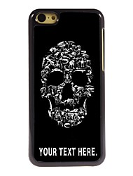 Personalized Case Skull Design Metal Case for iPhone 5C