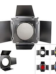 SN-12 Honeycomb Cover Metal Barndoor Color Filter Kits for 230mm Elinchrom Standard Reflector Hood