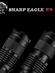 aquila tagliente / 3mode viola chiaro Cree XR-E Q5 mini ZQ-k8 torcia (500lm.1x14500.black)