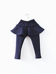 couleur unie douce simulacres deux morceaux de fille jupe leggings