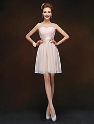 Short/Mini Bridesmaid Dress - Champagne Sheath/Column Sweetheart