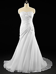 Vestido de Boda - Blanco y Champaña (el Color y Estilo pueden variar según su monitor) Corte en A Barrida - Sweetheart