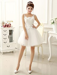 Short / Mini Bridesmaid Dress A-line / Princess Strapless with