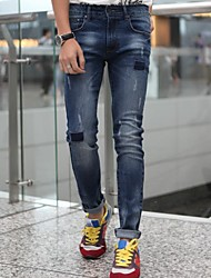Men's Elastic Foot Jeans