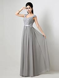 Fiesta formal Vestido - Plata Corte A Hasta el Suelo
