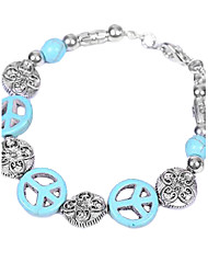 Coway Bracelet Anti War Turquoise Retro Alloy
