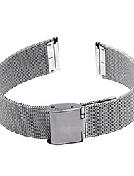 18mm Durable Silver Steel Watch Band Strap Deployment Buckle Cool Watch Unique Watch Fashion Watch