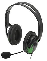 USB con cable auriculares w / micrófono para ps3 / ps3 cech4000 delgado / ps3 (negro)