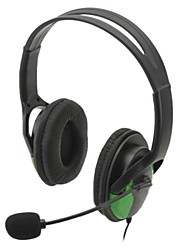 usb kabelgebundene Kopfhörer w / Mikrofon für ps3 / ps3 slim / ps3 cech4000 (schwarz)