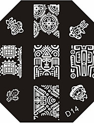 Nail Art Stamp Stamping Image Template Plate D Series NO.14