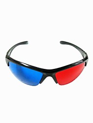 herbruikbare kunststof frame hars lens anaglyfische blauwe + rode 3d-film een speciale bril
