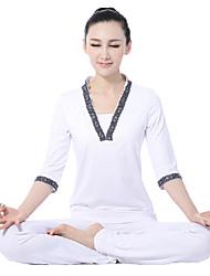 rima blanca media manga yoga superior y pantalones