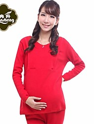 Maternity Add Thick Lactation Outfit Prenatal And Puerperal Home Pajamas Warm Clothing