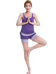 Femme Yoga Tenus Sans manche Séchage rapide / Antistatique / mèche / Limite les Bactéries Pourpre clair Yoga S / M / L / XL