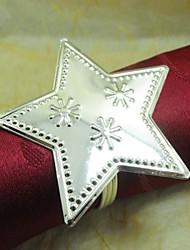 étoile en métal rond de serviette, le fer, 1,77 pouces, un ensemble de 100