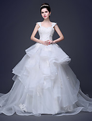 Ball Gown Wedding Dress Sweetheart Lace/Tulle