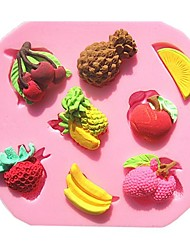 Pineapple Strawberry Banana Fruit Combo Fondant Cake Molds