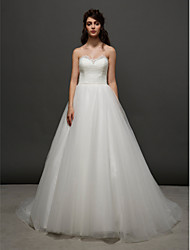 Lanting Bride Ball Gown Wedding Dress-Court Train Sweetheart Tulle