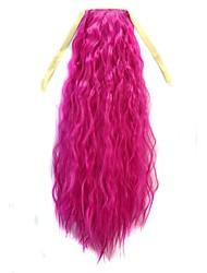 binden lange Frauen Maisroll gewellten Pferdeschwanz (pink)
