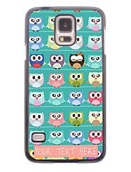 caja del teléfono personalizado - un lote de búhos caja de metal de diseño para i9600 Samsung Galaxy S5
