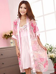 Satin/Polyester Sexy  Casual/Party Sleepwear Set