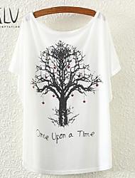 T-paita - Polyesteri , Tavallinen , Lyhyt hiha , Thin