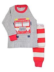 Boy's Two Pcs Set Loungewear and Bus Nightwear