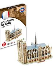 speelgoed - 3d puzzels de wereldberoemde mijne architectuur serie Notre Dame de Paris van papier puzzel