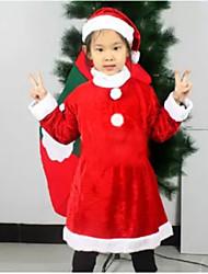 cotone della ragazza ispessita abito di Natale