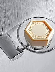 Solid Brass Finish Chrome Soap Dish Holder
